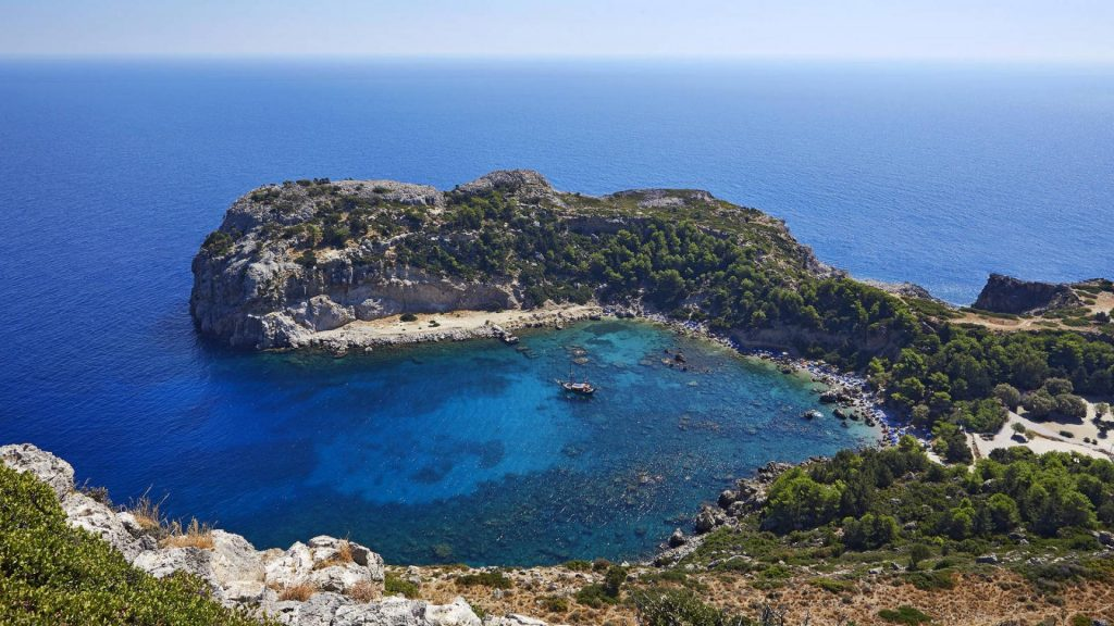 Boat Trip to Anthony Quinn, Kallithea & Traganou Bays (Sailing Boat up to 50 persons)