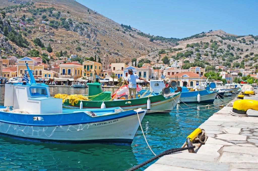 Boat Trip to Symi Island with Swimming at St. George Bay